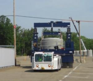 Testing Vertical Storage Cask Transporter